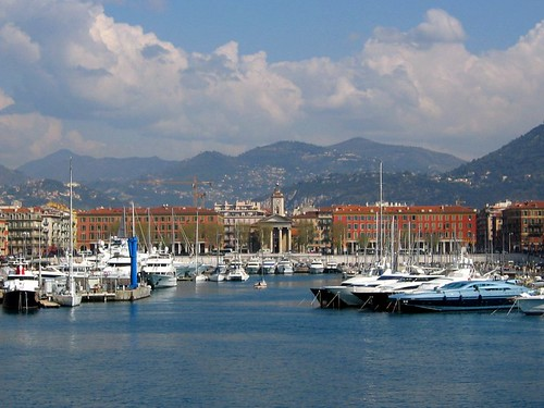 Nice harbor, seen from the jetty.