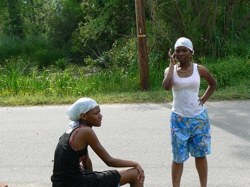 Hunter Street Water Fight - Girls Waiting