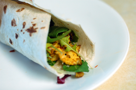 Curry Walnut Chicken Wrap