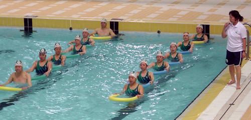水中健體代表隊積極訓練[第二屆全國水中健身賽]
