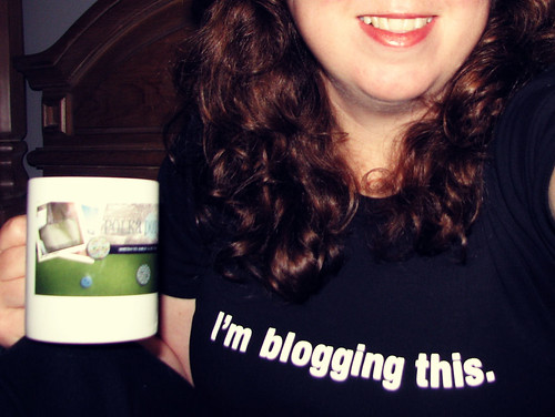 I totally am.  Blogging this, I mean.