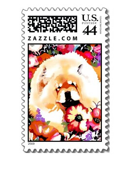 POPPY PRINCESS, art postage stamp by Sandra Miller