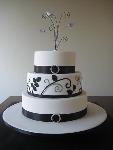 3828236327 2f3eb7c1bf Baú de ideias: Decoração de casamento preto e branco