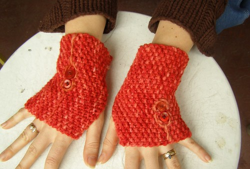 red on red mittlets