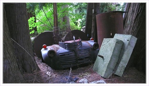 Items stored at an abandoned farmstead, Washington state.