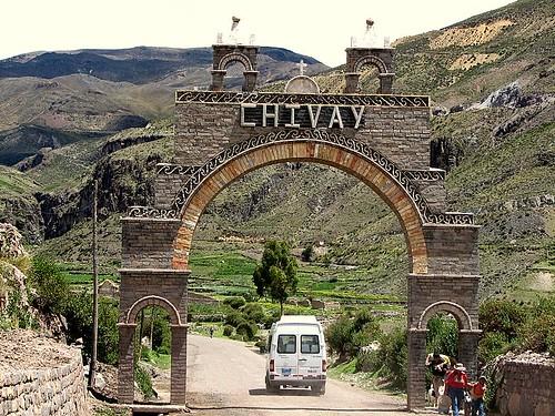 Entrada a Chivay