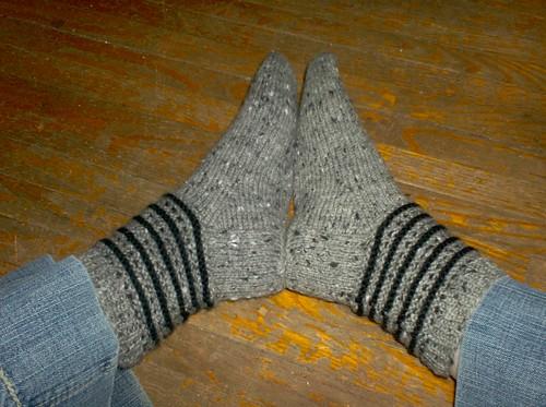 Squares & Stripes Socks, complete