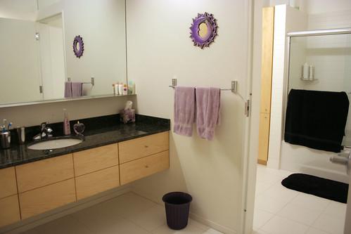The wash room & bathroom