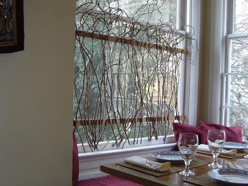 Thai restaurant botanical window decoration