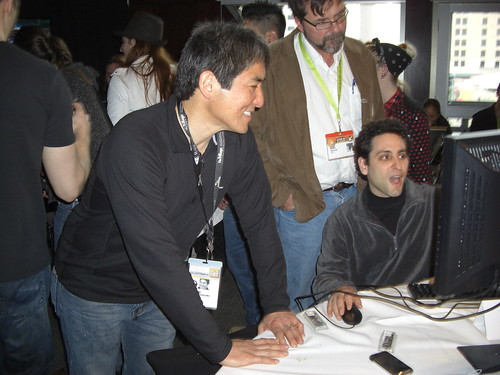 Guy Kawasaki in the TechSet Blogger Lounge at SXSW