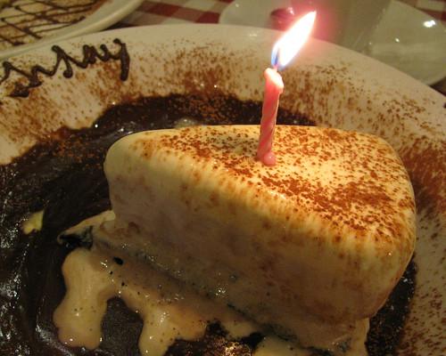 Ice Cream cake at Italianni's