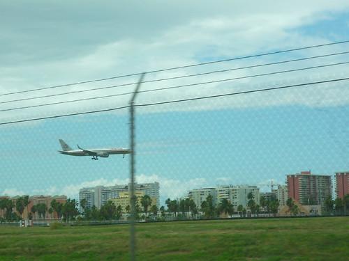 Plane almost landing