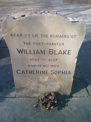 The gravestone of William Blake at Bunhill Fields