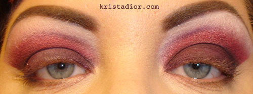 Blended Eyeshadow with medical tape