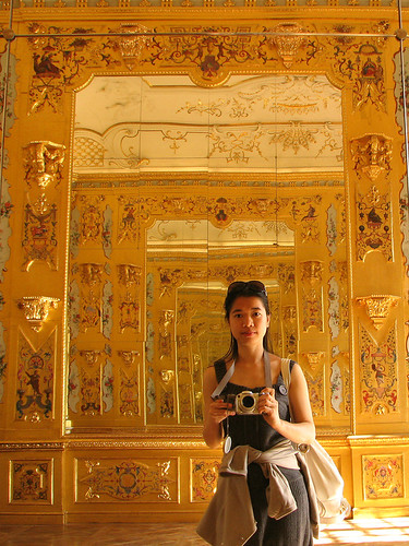 Me in the Golden Room of Lower Belvedere by you.