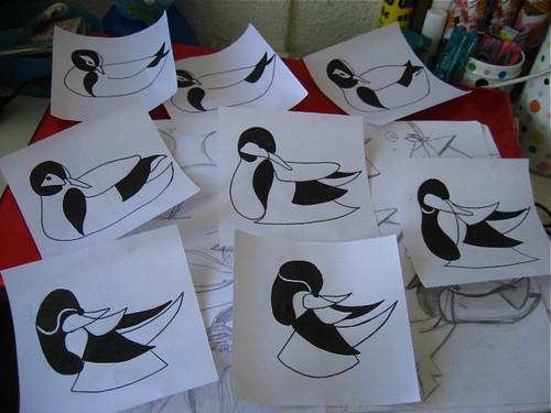 Inking the ducks