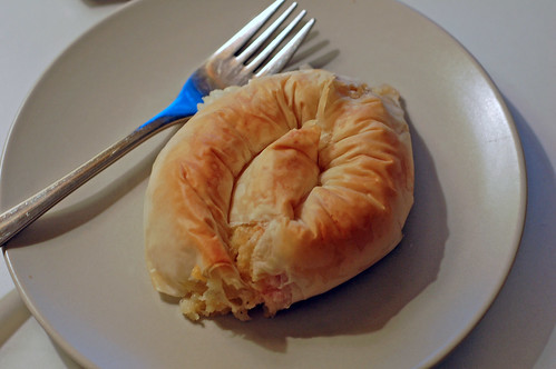 A Bacon, Cheese and Onion Filo Spiral