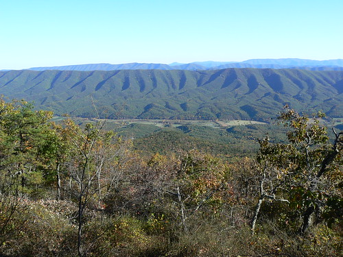 Sinking Creek Mountain - Top - Layers of Ridges From Top