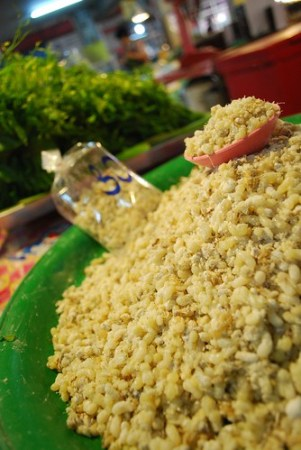 Ant eggs for salad - Market outside Chiang Mai
