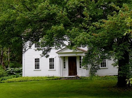White antique house on Cape Cod