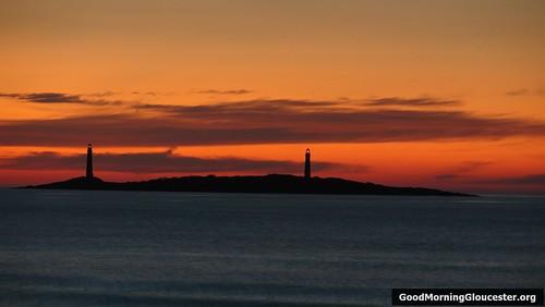 Gloucester At Dawn- Thatcher Island Taken From Long Beach