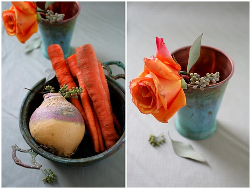 Rutabaga Carrots and a Rose