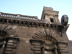 The side of St Mary Woolnoth church, London, by Nicholas Hawksmoor