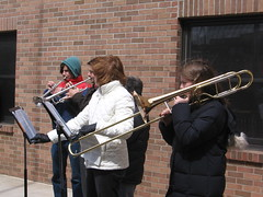 Our musicians who played in the cold weather