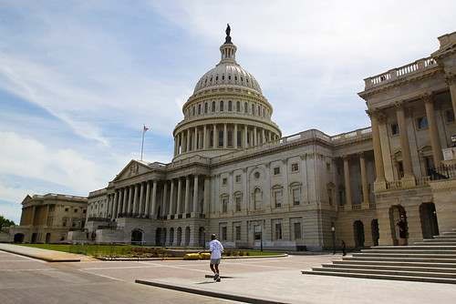 A man jogs in front of the U.S. Capitol Building. As you can read in the post before the previous post, we didnt get to tour the building.