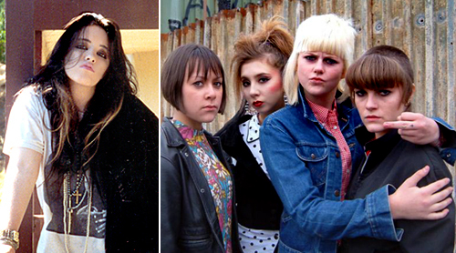 Teenage Me in the '80s & female cast of This Is England (2006)