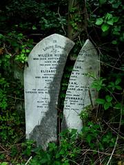 Split gravestone