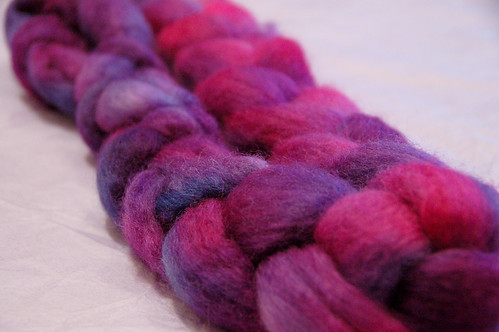 handdyed by me, roving from Romni wools