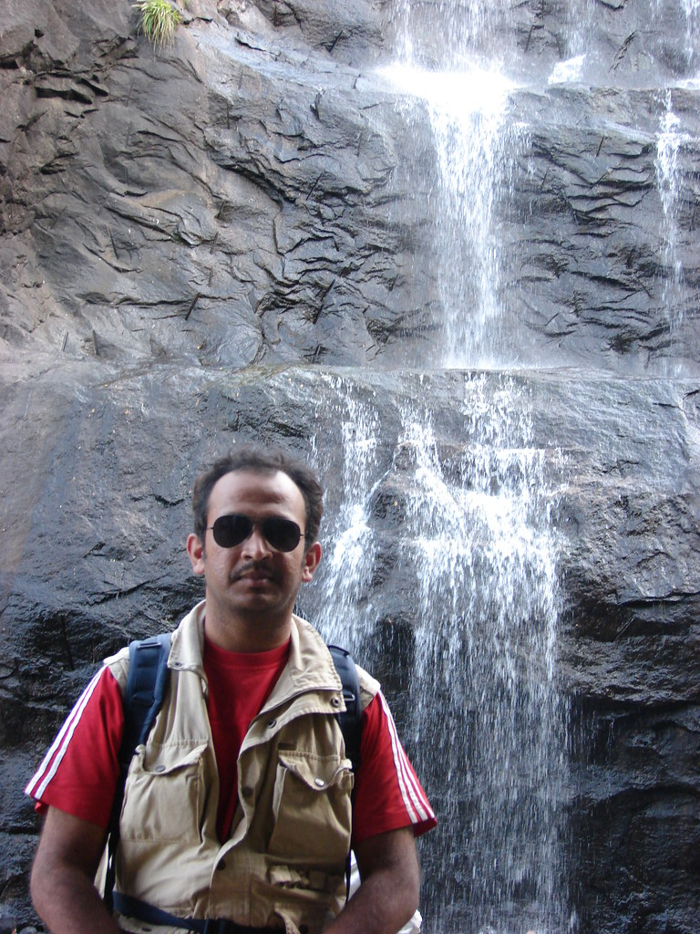 MK at Old Kutralam falls