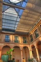 Arcada del patio central del palacio ducal de Lerma
