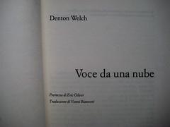 Denton Welch, Voce da una nube, Casagrande 2006, frontespizio (part.)
