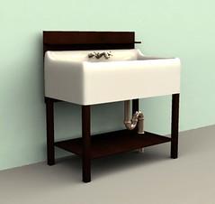 A beautiful deep kitchen sink