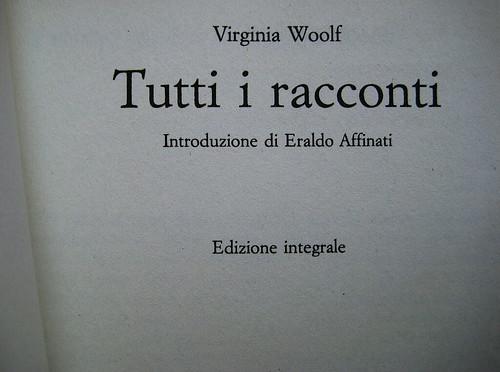 Virginia Woolf, Tutti i racconti, Newton Compton 2009: frontespizio (part.), 1