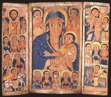 Anonimo, Trittico con la Vergine e il Bambino, Etiopia (Gojjam?), fine XVII secolo.