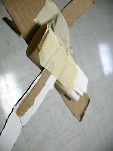 paper/cardboard/tape airplanes
