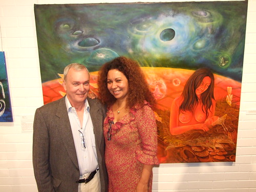 Clive Moore with Pacific Storms curator, Joycelin Kauc Leahy