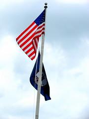 US Flag & Virginia State Flag