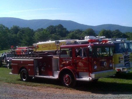 A couple of custom engines - the red one used to belong to our station