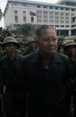 Arrested General Duong Van Minh, the last president (for 3 days) of South Vietnam