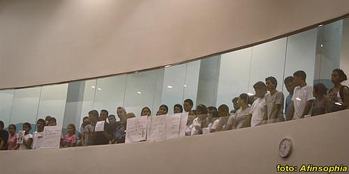 Estudantes na CMM 11 por você.