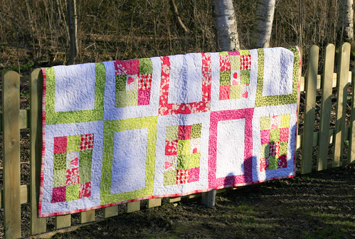 Spring Quilt on the new fence