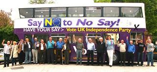 UKIP activists with UKIP bus