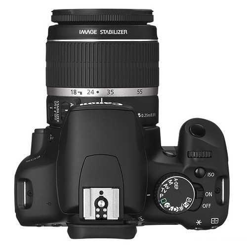 Top view of Canon EOS 450D