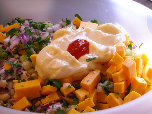 Unmixed salad