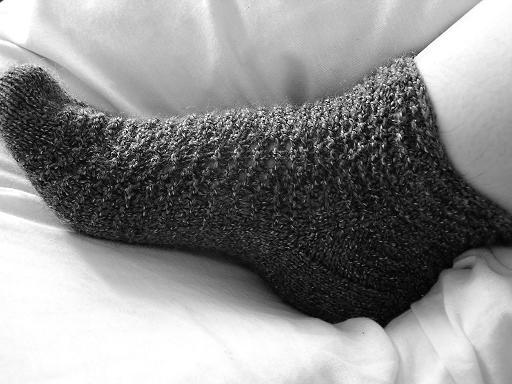 feather & fan socks.