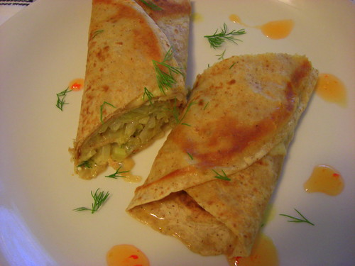 Tortilla with cabbage